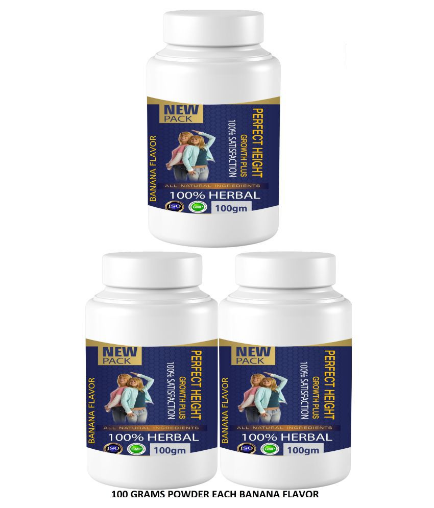 Zemaica Healthcare Perfect Height Banana Flavor Powder 300 gm Pack of 3