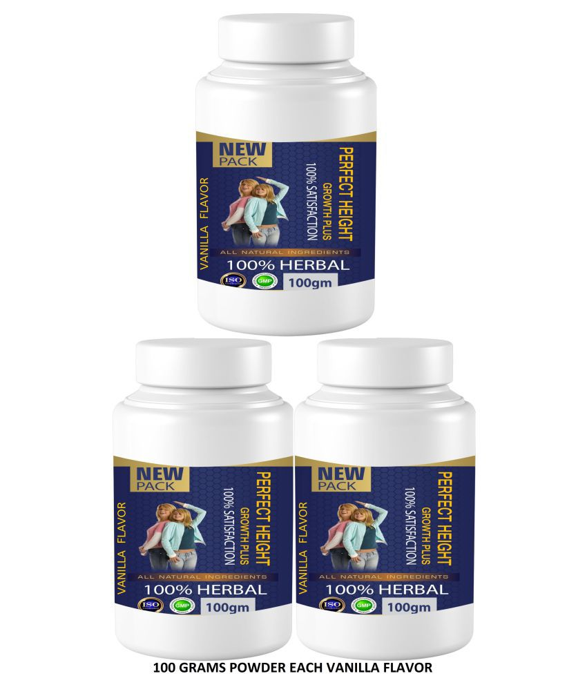 Zemaica Healthcare Perfect Height Vanilla Flavor Powder 300 gm Pack of 3