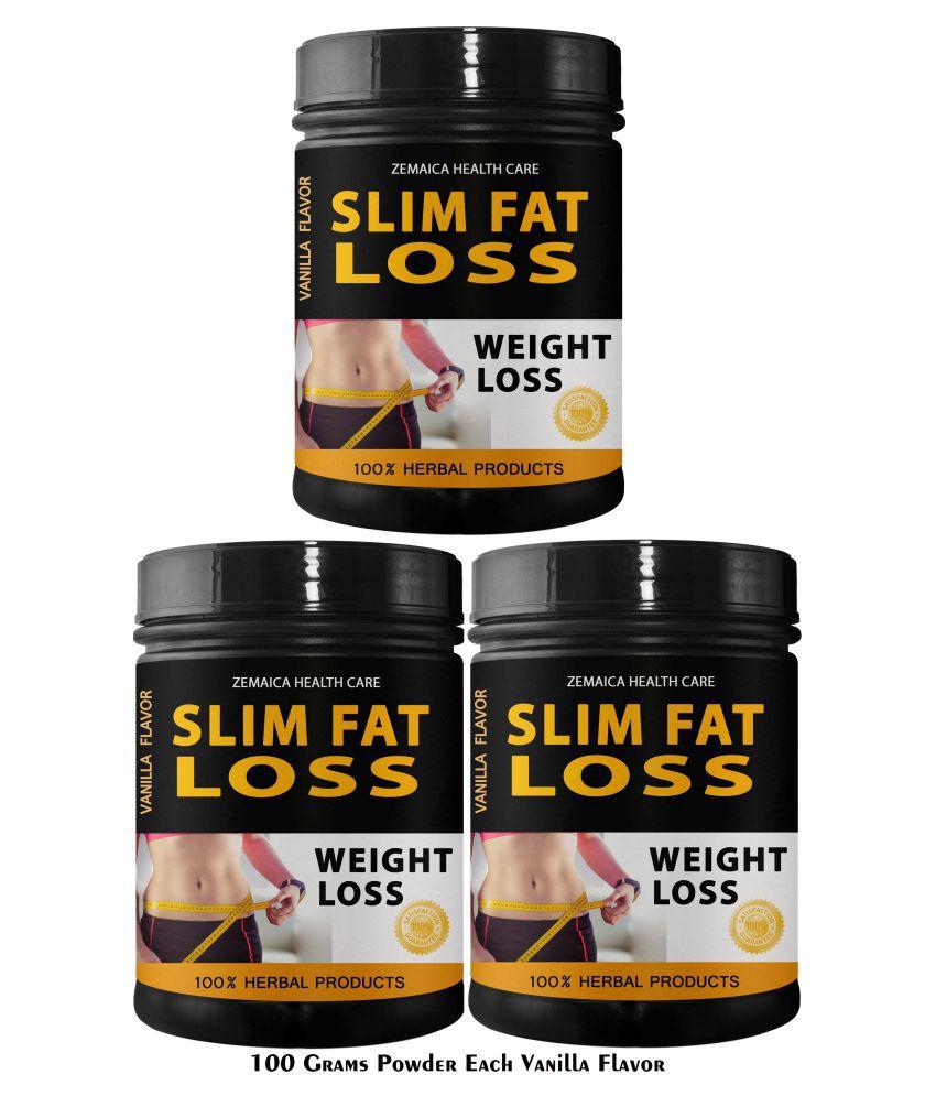Zemaica Healthcare Slim Fat Loss Vanilla Flavor Powder 300 gm Pack of 3