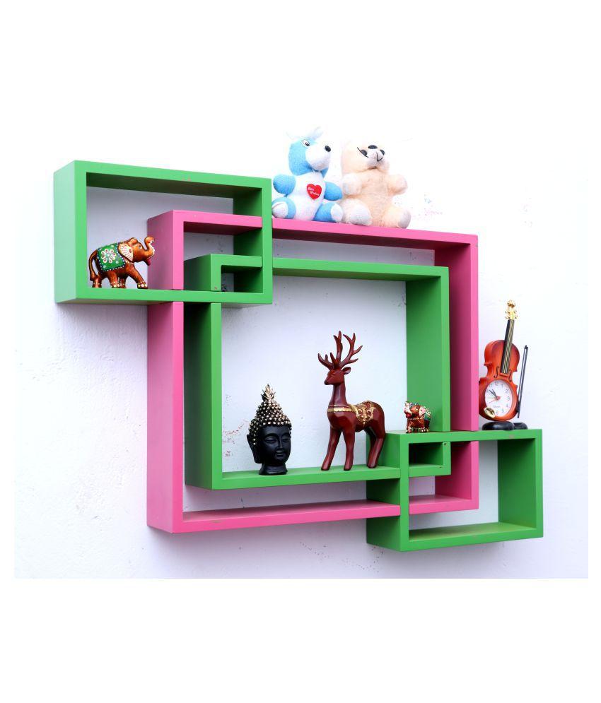 Royals Floating Shelves Multicolour MDF - Pack of 1