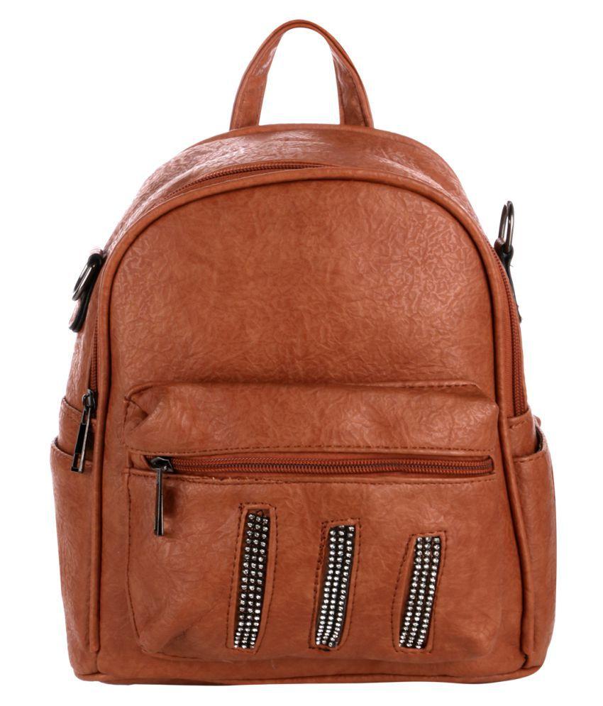Satchel Bags & Accessories Brown P.U. College Bag
