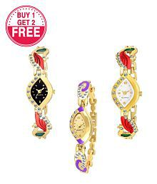 Acnos Lowest Price With Latest Designer Premium Analog Watch For Women- Buy 1 get 2 Free