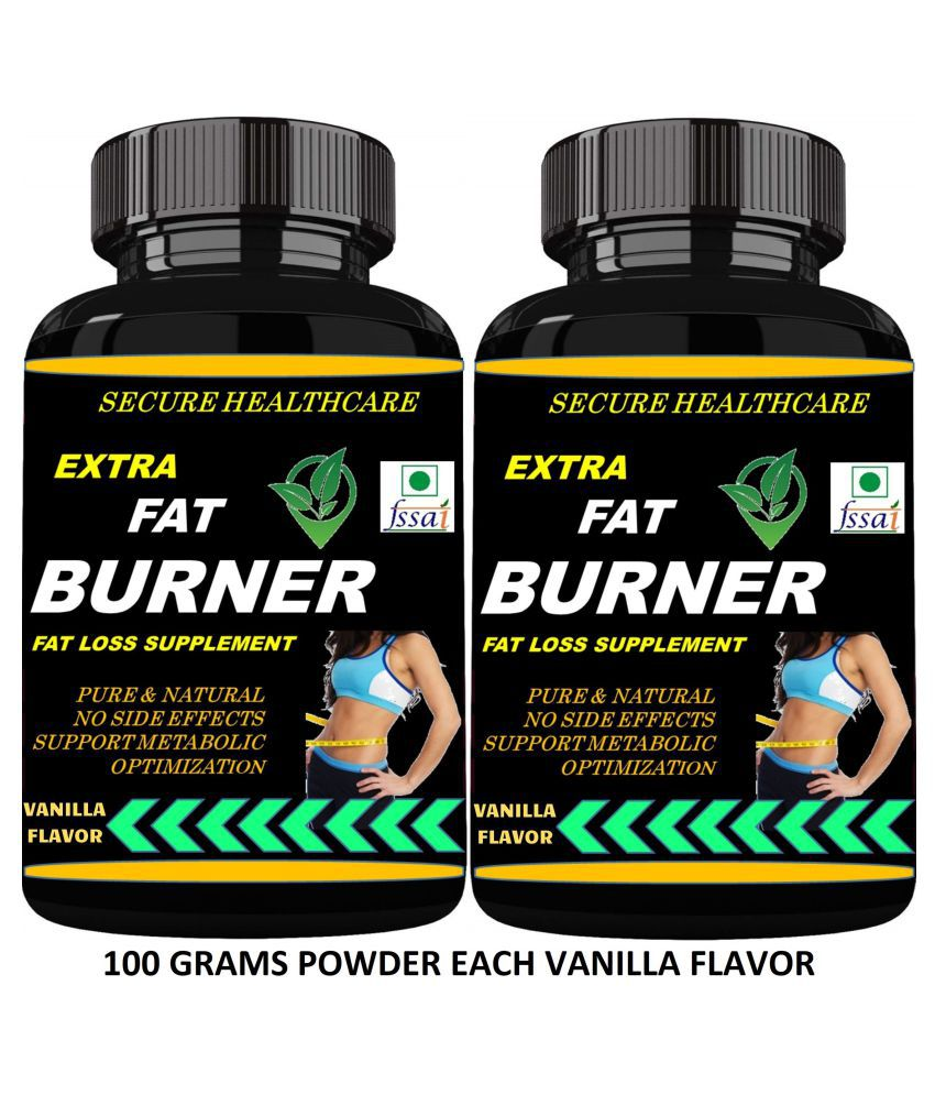 Secure Healthcare Extra Fat Burner Vanilla Flavor Powder 200 gm Pack Of 2