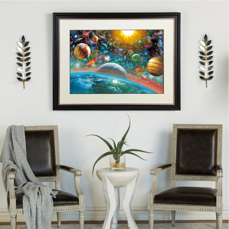 Frameless Scenic Wonderland Universe 5D DIY Diamond Painting Cross Stitch Craft Kit Paint by Number Kits for Adults Kids