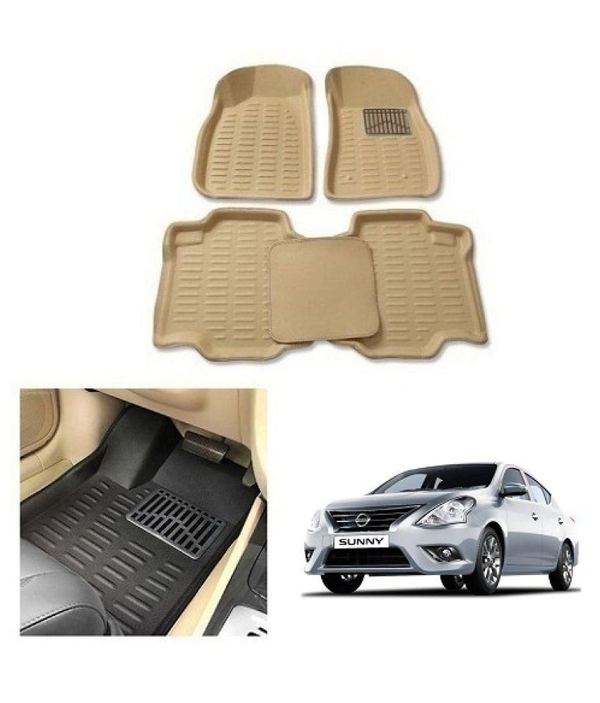 Neeb Traders  Car Carpet Cream Car Floor/Foot Mats for Nissan Sunny