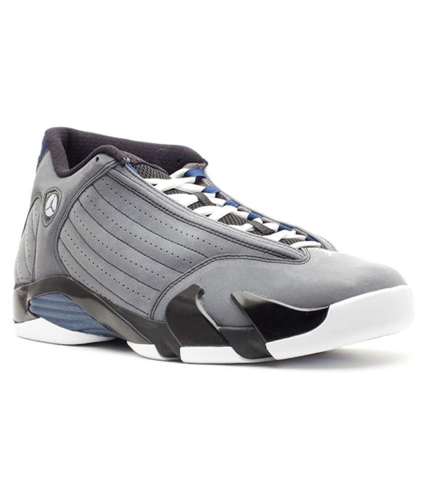 premium selection b125d ed26f Nike Jordan 14 Retro Gray Highankle Male Black