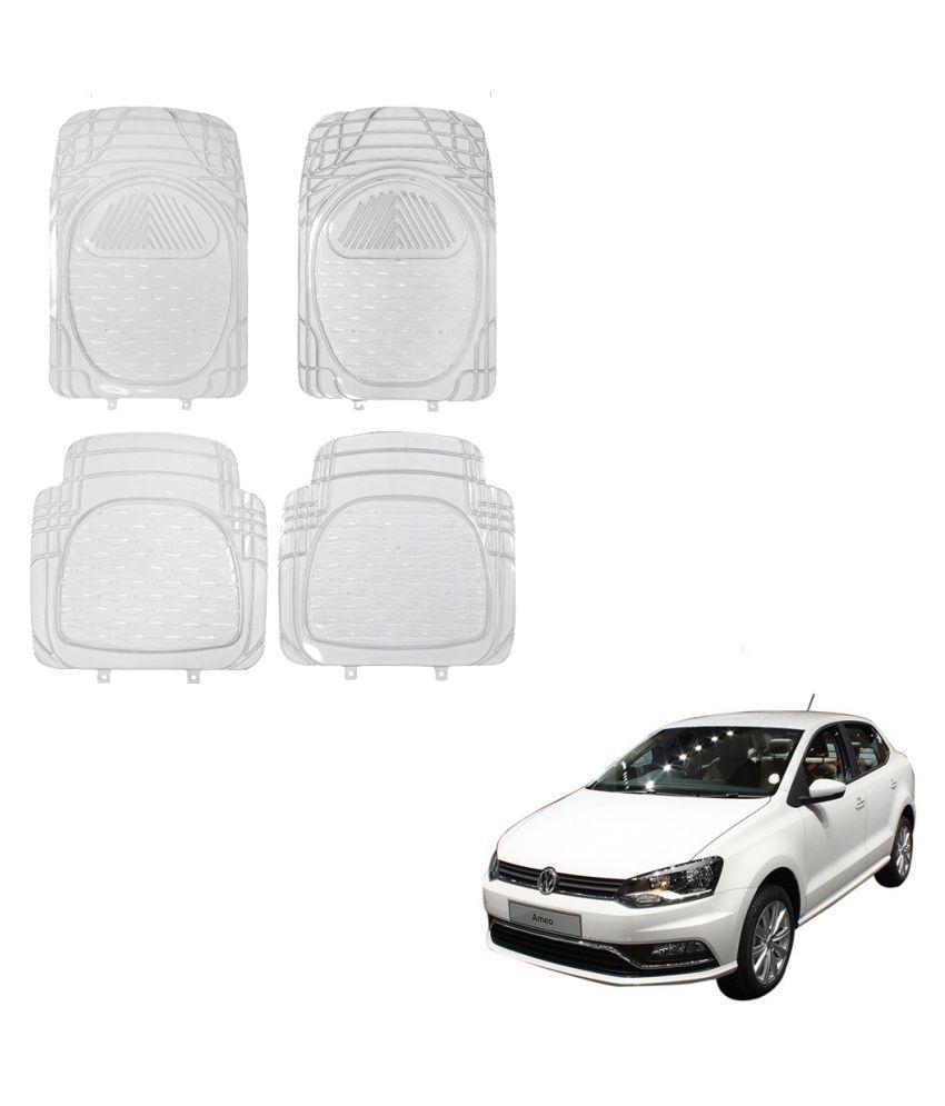 Auto Addict Car Rubber PVC Car Mat 6204 Foot Mats Clear Color Set of 4 pcs For Volkswagen Ameo
