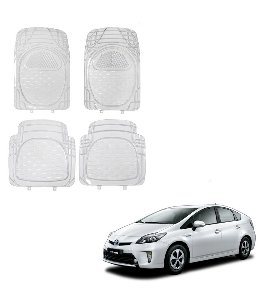 Auto Addict Car Rubber PVC Car Mat 6204 Foot Mats Clear Color Set of 4 pcs For Toyota Prius