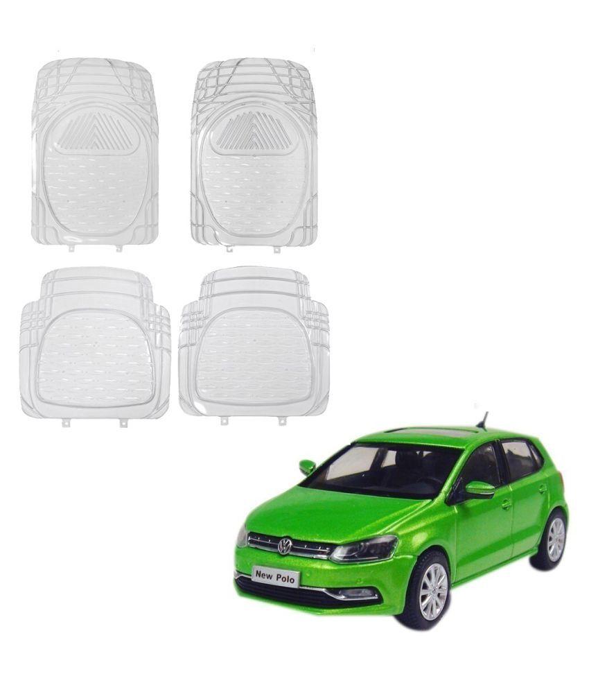 Auto Addict Car Rubber PVC Car Mat 6204 Foot Mats Clear Color Set of 4 pcs For Volkswagen Polo Exquisite
