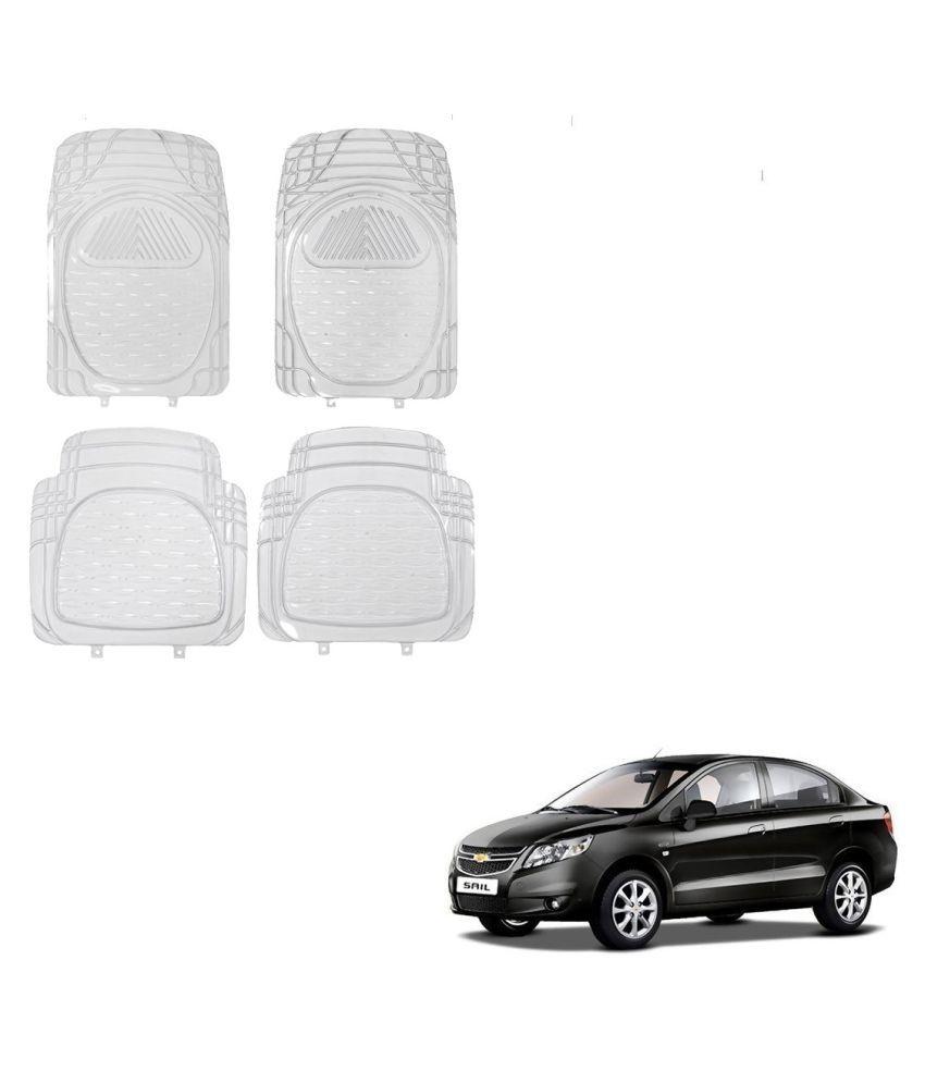 Auto Addict Car Rubber PVC Car Mat 6204 Foot Mats Clear Color Set of 4 pcs For Chevrolet Sail