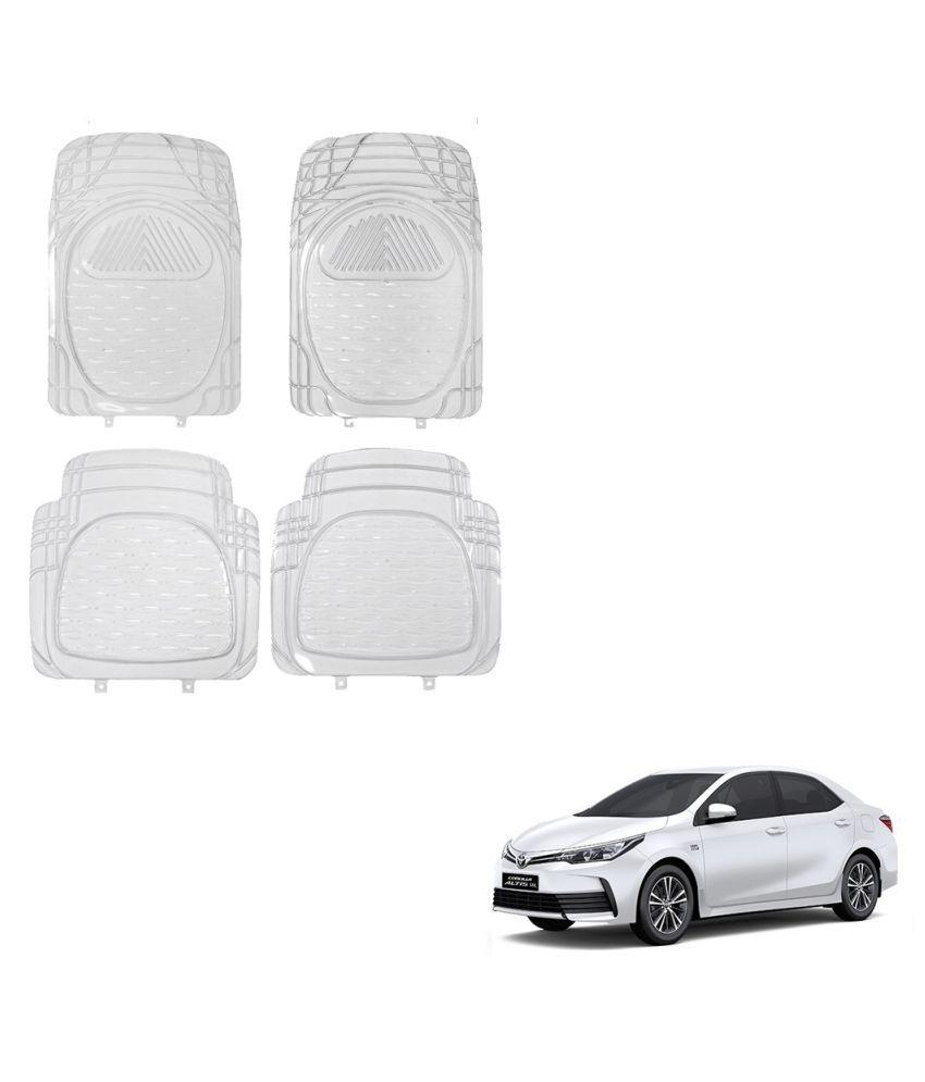 Auto Addict Car Rubber PVC Car Mat 6204 Foot Mats Clear Color Set of 4 pcs For Toyota Corolla New Altis