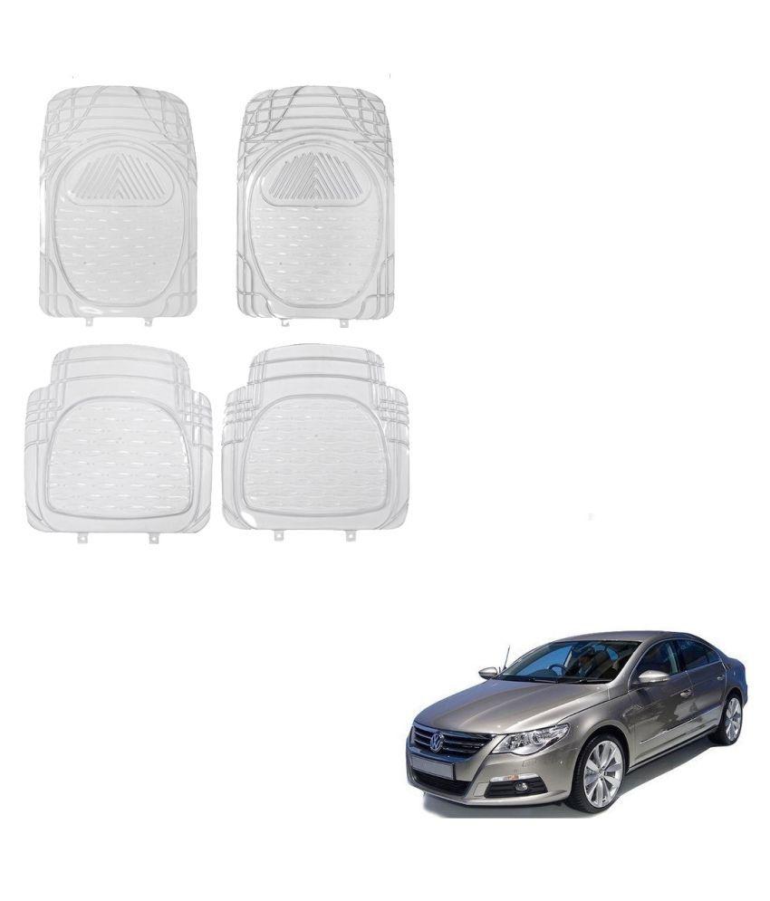 Auto Addict Car Rubber PVC Car Mat 6204 Foot Mats Clear Color Set of 4 pcs For Volkswagen Passat