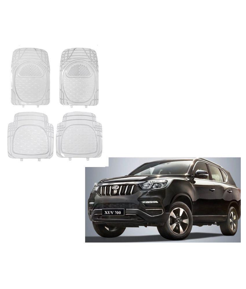 Auto Addict Car Rubber PVC Car Mat 6204 Foot Mats Clear Color Set of 4 pcs For Mahindra XUV 700 (Alturas G4)