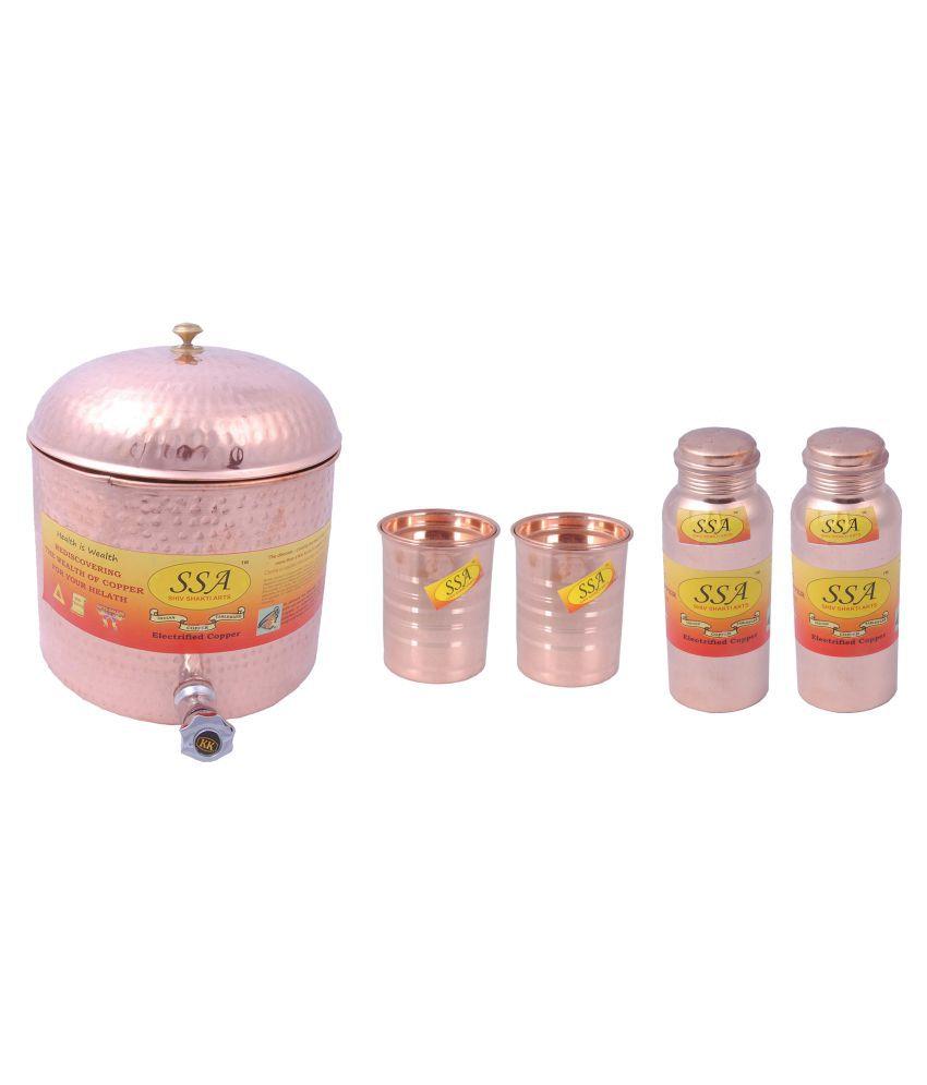 Shiv Shakti Arts Water Drinkware Pot 5 Pcs Lemon set