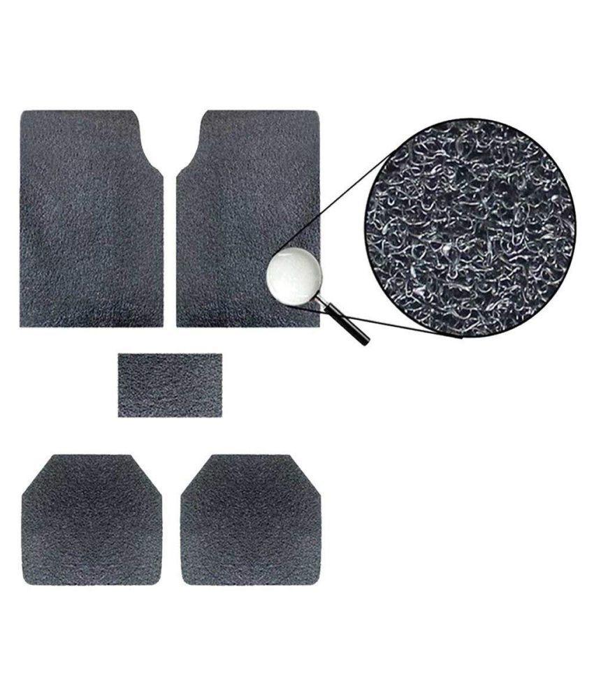 Autofetch Car Anti Slip Noodle Floor Mats (Set of 5) Black for Hyundai Santro Xing [2003-2008]