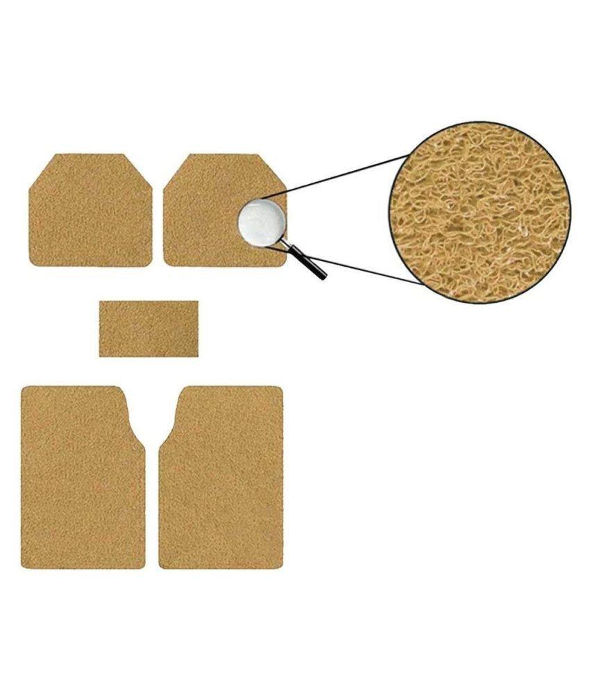 Autofetch Car Anti Slip Noodle Floor Mats (Set of 5) Beige for Tata Indica V2 [2006-2013]