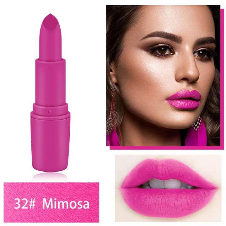 Miss Rose Professional Matte Dark Pink Color Lipstick 3g