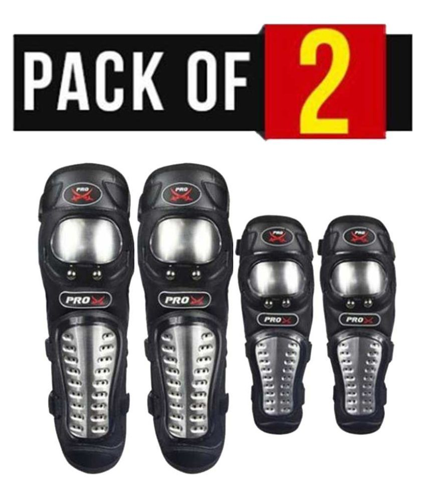 Biker Protective Gear Pro X Elbow Knee Guard Pack of 2