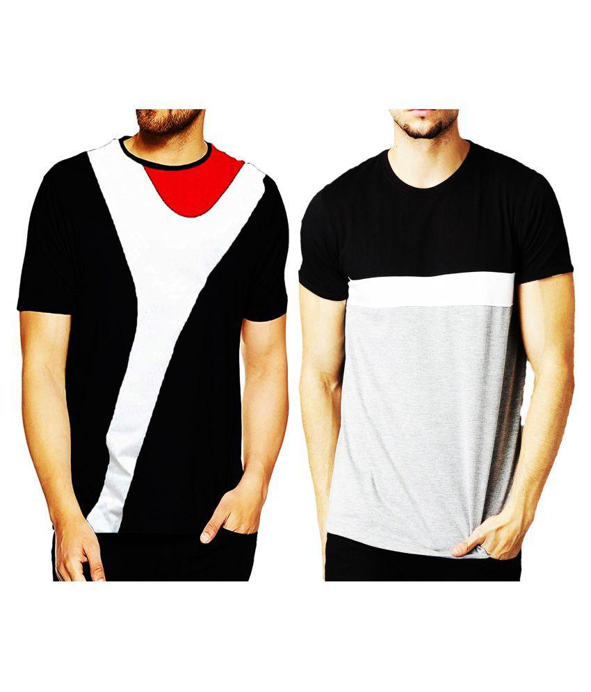 Leotude 100 Percent Cotton Multi Solids T-Shirt