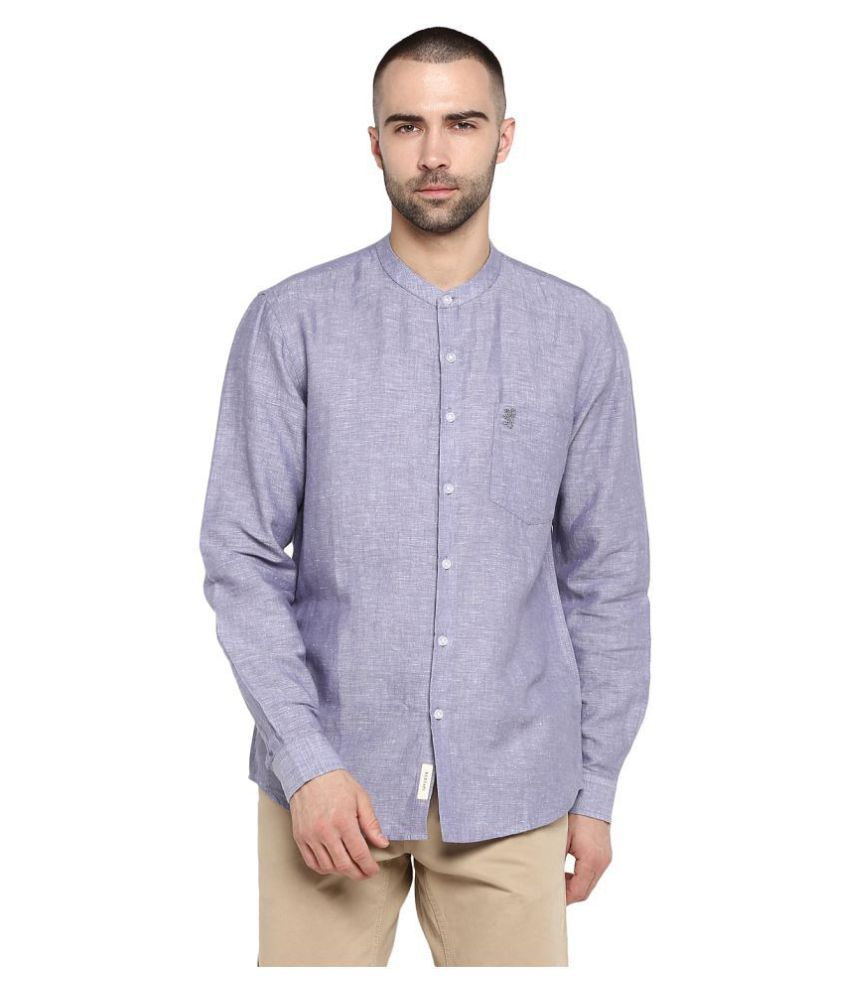 Red Tape Cotton Blend Grey Solids Shirt
