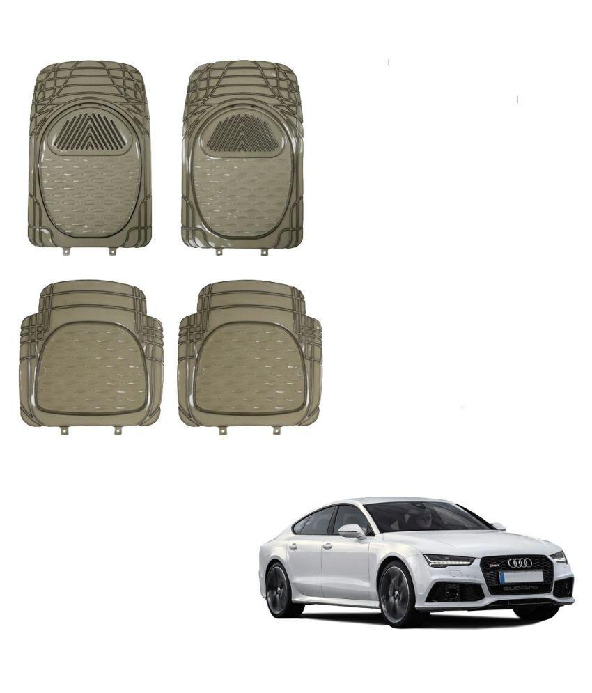 Auto Addict Car Rubber PVC Car Mat 6204 Foot Mats Smoke Color Set of 4 pcs For Audi A7