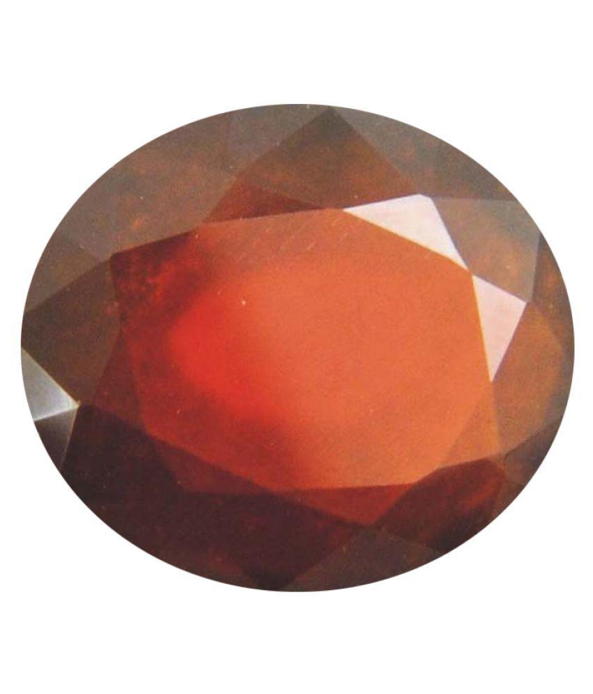 Tejvij And Sons 3.25 -Ratti Self certified Red Garnet Semi-precious Gemstone
