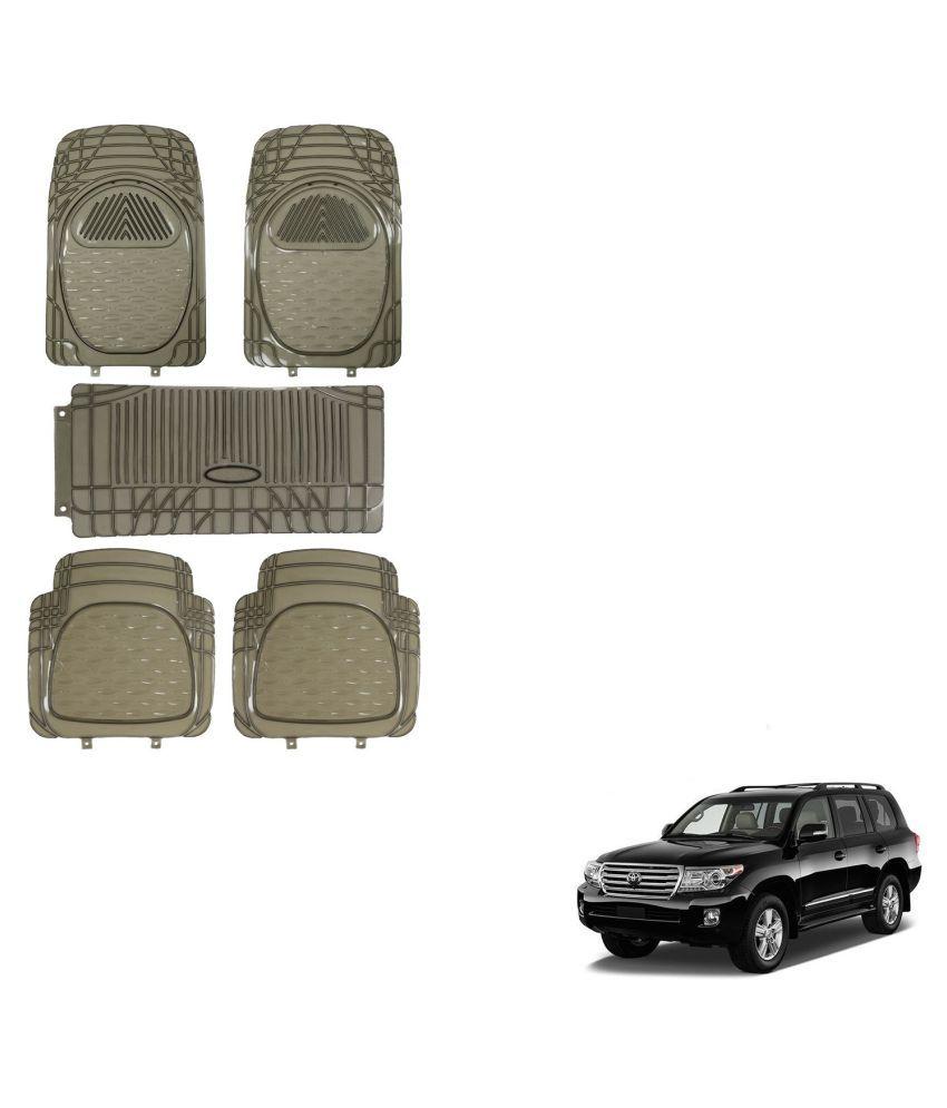 Auto Addict Car Rubber PVC Car Mat 6205 Foot Mats Smoke Color Set of 5 pcs For Toyota Land Cruiser