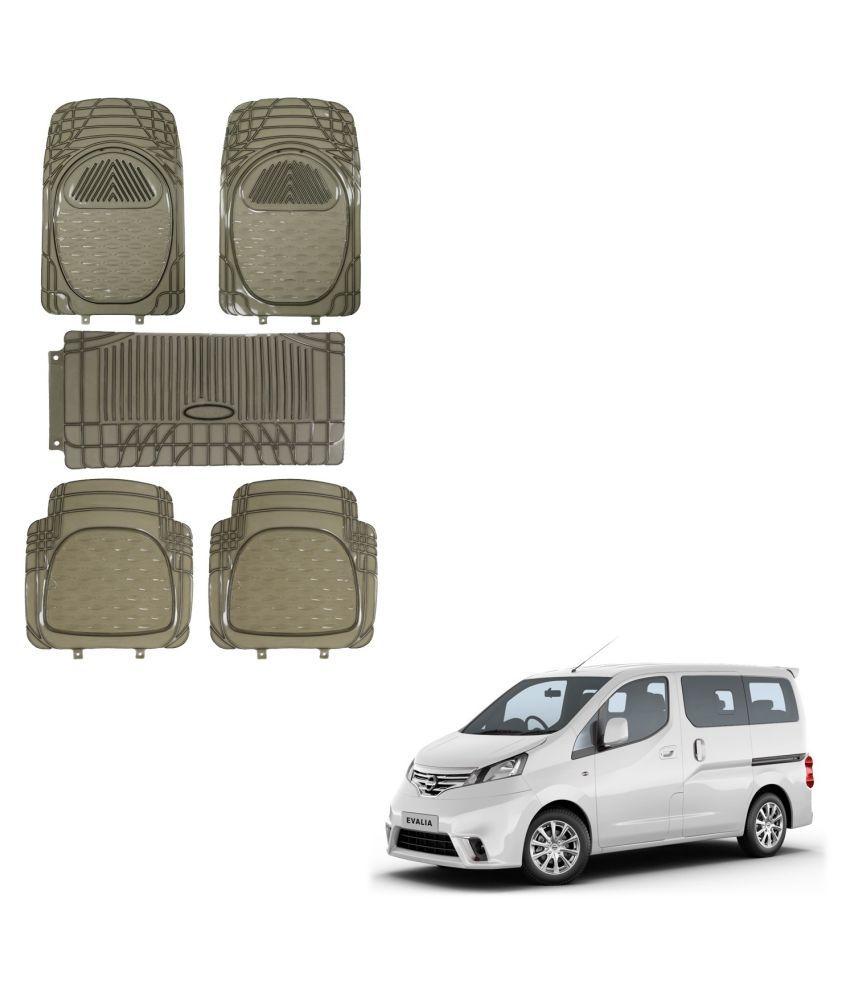 Auto Addict Car Rubber PVC Car Mat 6205 Foot Mats Smoke Color Set of 5 pcs For Nissan Evalia