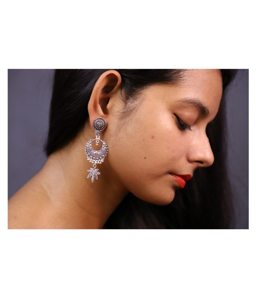 Econkart Silver Plated Earrings for Women, Lightweight Earrings, Daily Wear Earrings