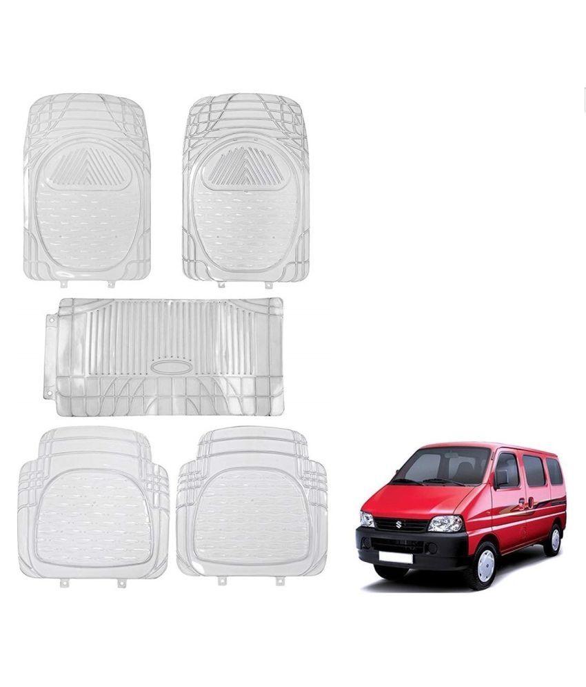 Auto Addict Car Rubber PVC Car Mat 6205 Foot Mats Clear Color Set of 5 pcs For Maruti Suzuki Eeco