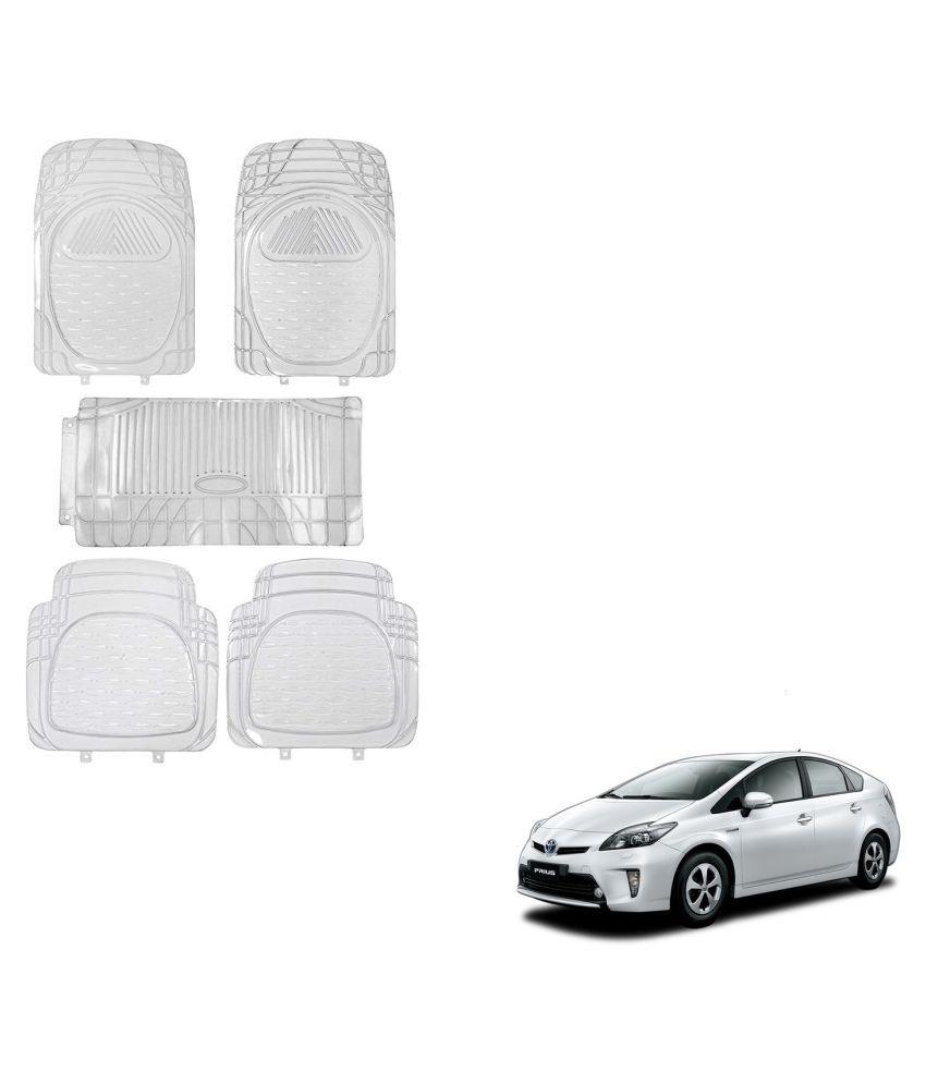 Auto Addict Car Rubber PVC Car Mat 6205 Foot Mats Clear Color Set of 5 pcs For Toyota Prius