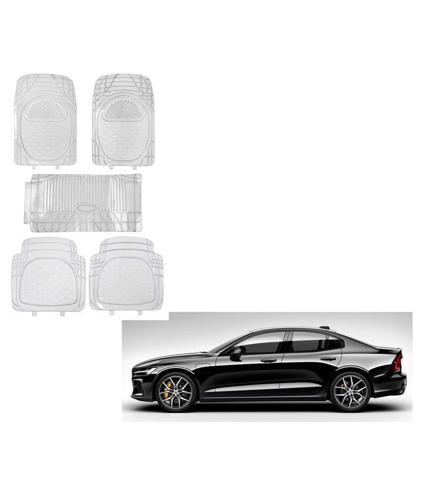 Auto Addict Car Rubber PVC Car Mat 6205 Foot Mats Clear Color Set of 5 pcs For Volvo S60