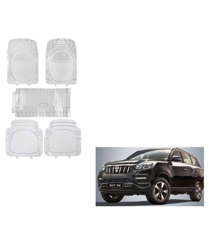 Auto Addict Car Rubber PVC Car Mat 6205 Foot Mats Clear Color Set of 5 pcs For Mahindra XUV 700 (Alturas G4)