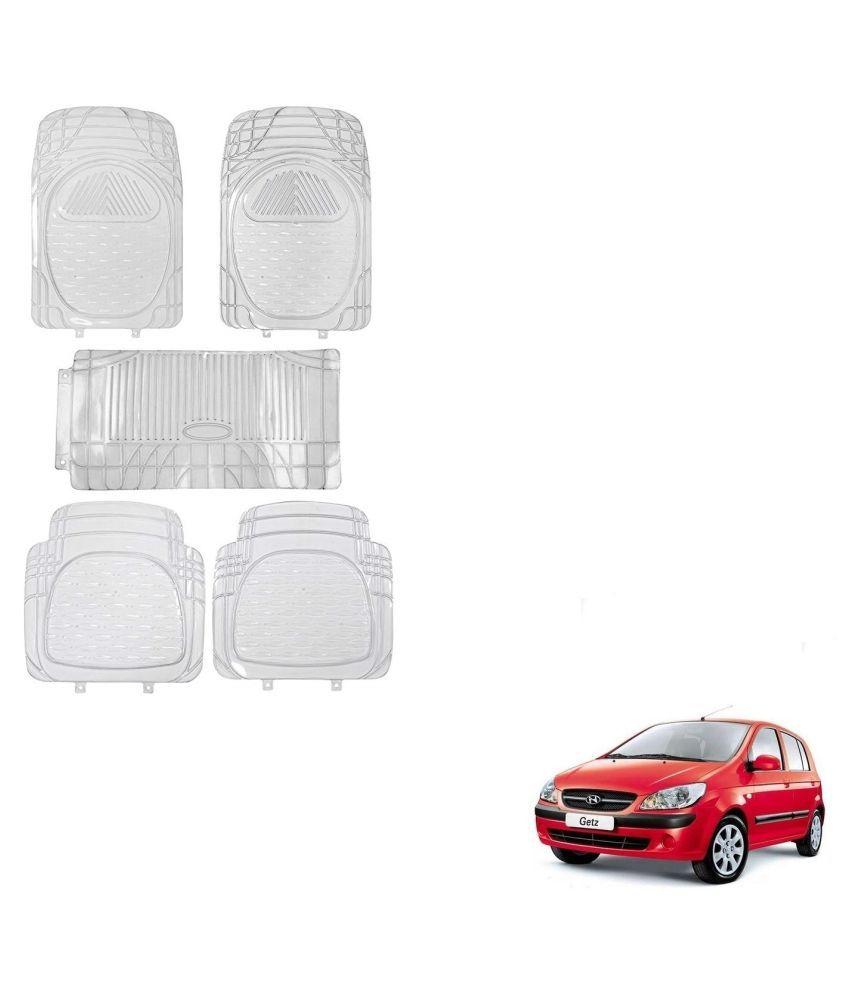 Auto Addict Car Rubber PVC Car Mat 6205 Foot Mats Clear Color Set of 5 pcs For Hyundai Getz
