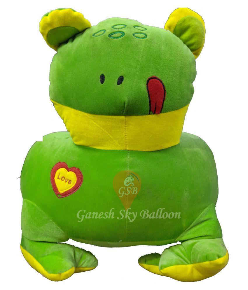 Ganesh Sky Balloon Green Frog Kids Chair Soft Teddy Bear