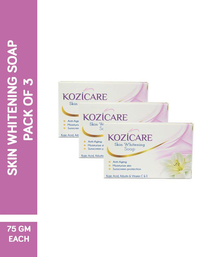 Kozicare Kojic Acid Skin Whitening Soap - 75g Fades Age Spots, Freckles,  And Other Signs Of Sun Damage And Heals Acne Blemishes & Erases Red Marks