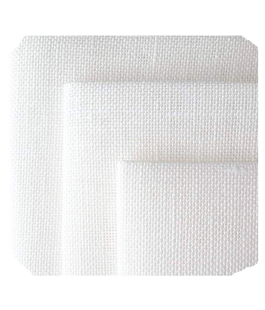 Makhanchor White Linen Unstitched Shirt pc