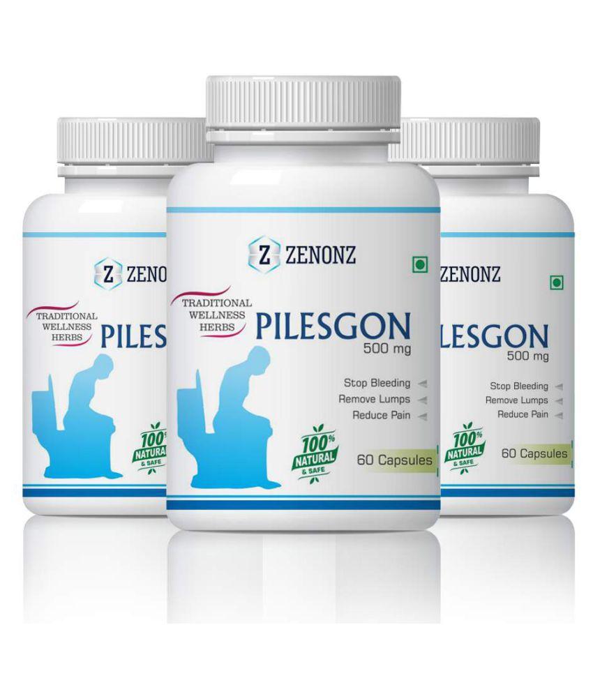 zenonz Pilesgon Bleeding And Non Bleeding Capsule 500 mg Pack of 3