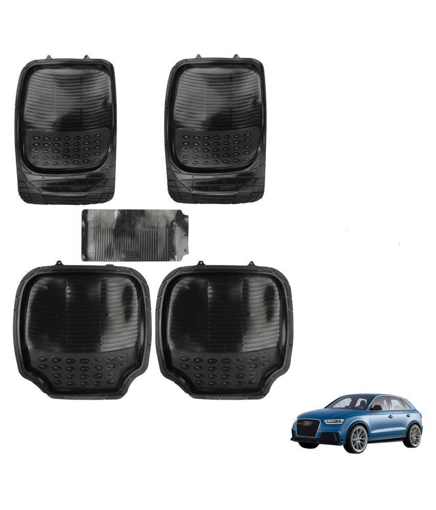 Auto Addict Car 4G Black Rubber PVC Heavy Mats Set Of 5 Pcs For Audi Q3