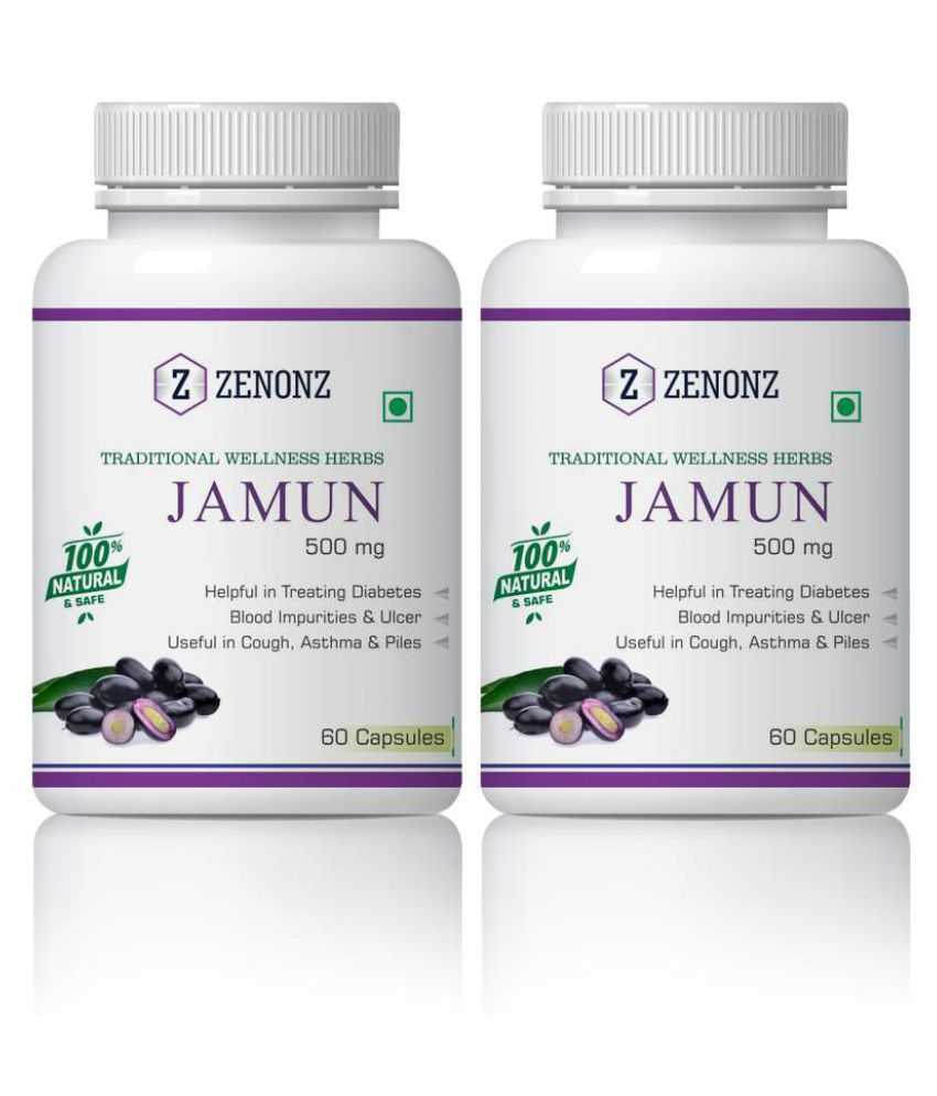 zenonz Jamun infection & Reduces DNA Damage Capsule 500 mg Pack Of 2