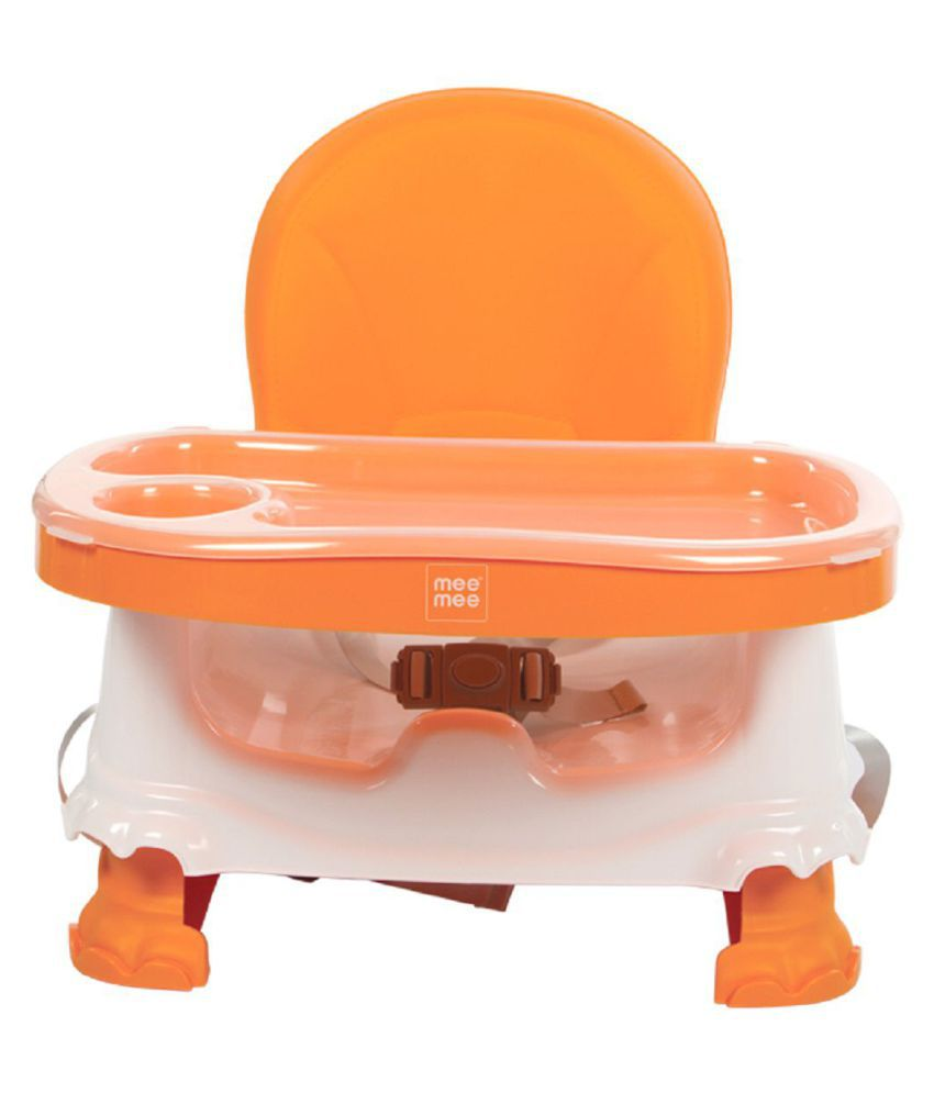 Mee Mee Foldable Booster Seat with Feeding Tray (Orange)