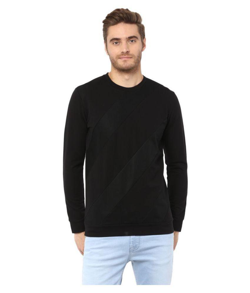Mufti 100 Percent Cotton Black Solids T-Shirt