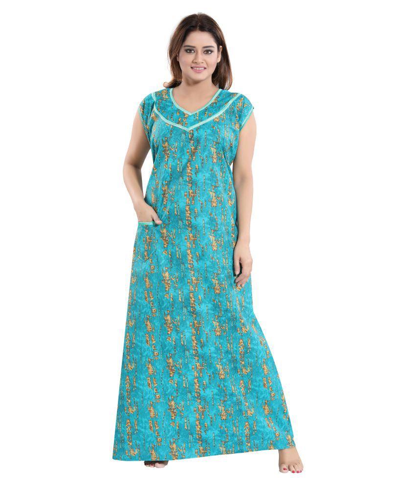 Mallinath Cotton Nighty & Night Gowns - Multi Color