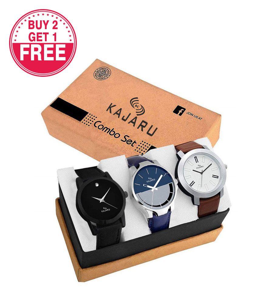 KAJARU Analog Watch - Buy 2 Get 1 Free