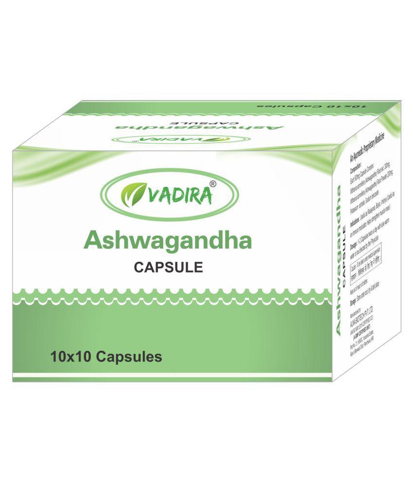 VADIRA Ashwagandha Capsules Capsule 100 no.s Pack Of 1
