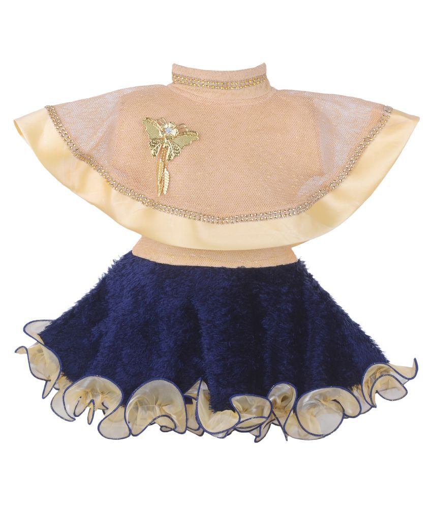 Clobay Poncho Style Frock Kids Dress for Baby Girls