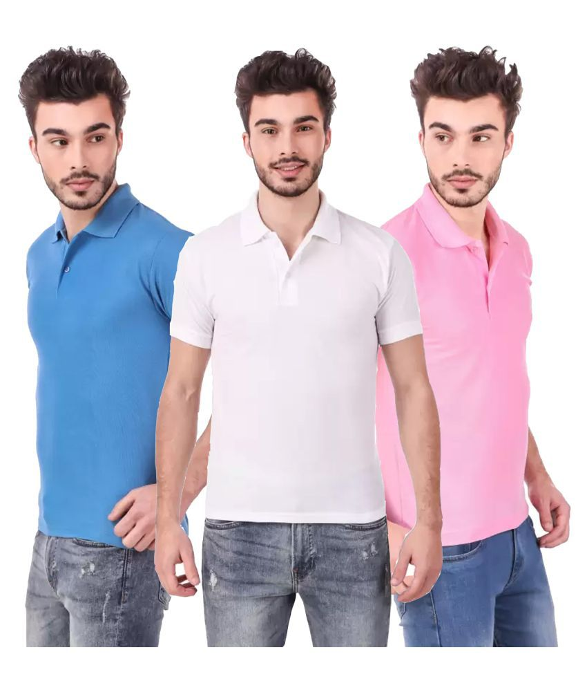 Freely Polyester Cotton Pink Solids T-Shirt