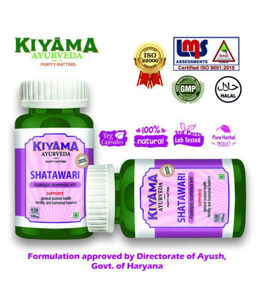 Kiyama Ayurveda Shatawari Veg - 60 Capsule 500 mg