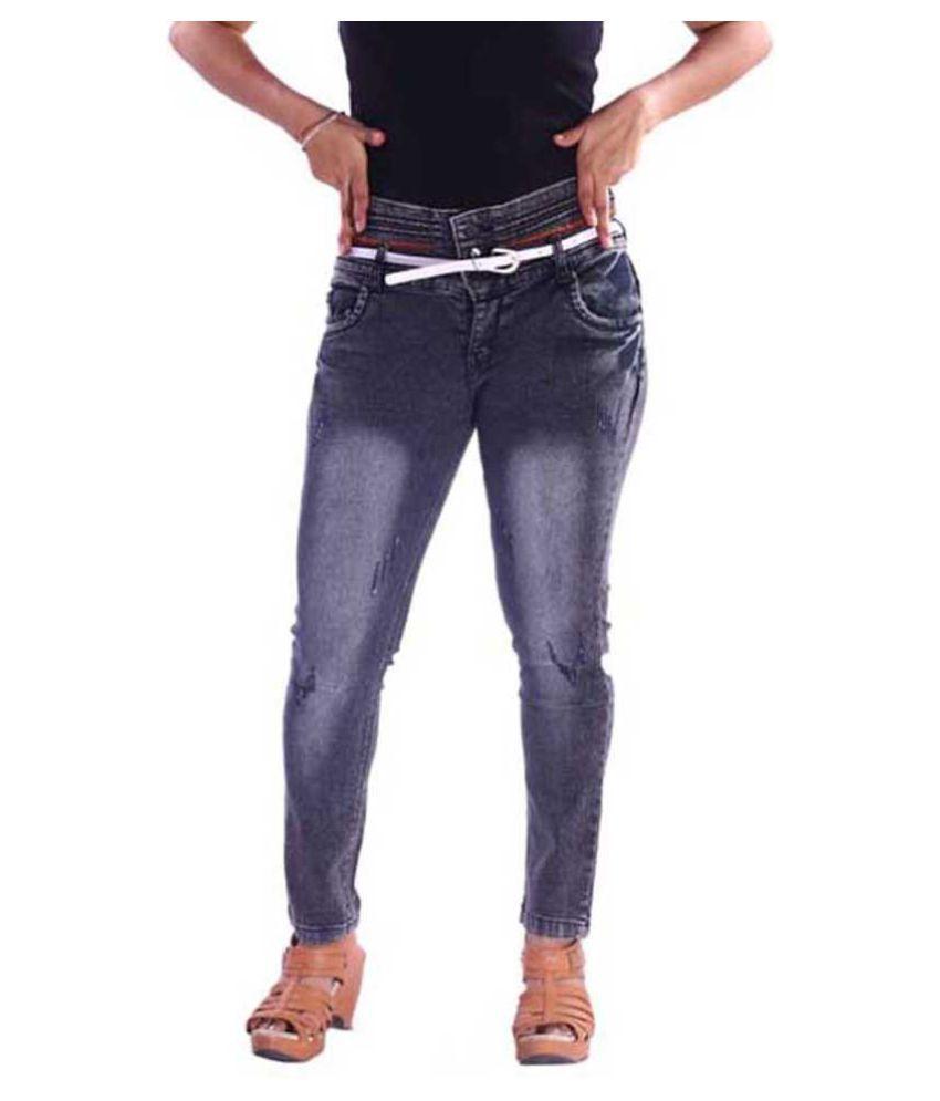AZAD DYEING Denim Jeans - Black