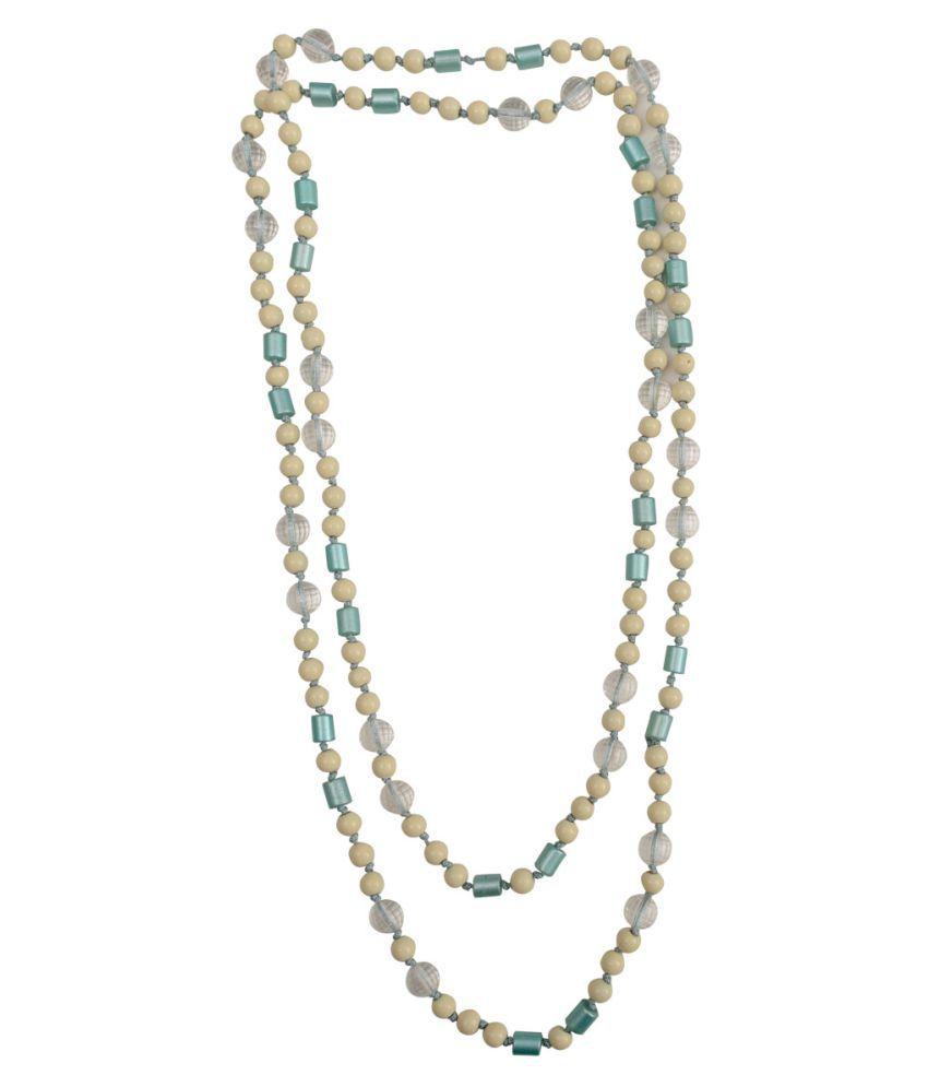 Taj Pearl Plastic Multi Color Statement Contemporary/Fashion None Necklace